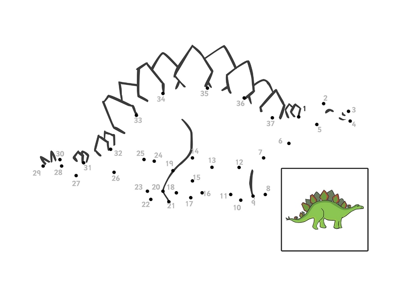 Dinosaur Activities For Kds Connect The Dots Preschool