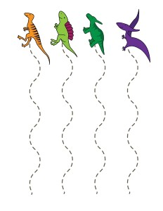 dinosaur cutting page