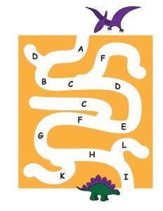 dinosaur labyrinth