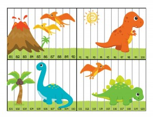 dinosaur numbers puzzle activities