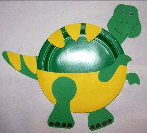 dinosaur paper plate