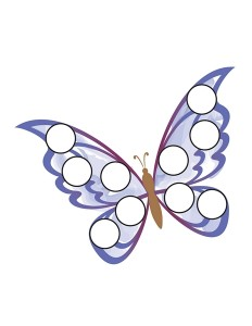 do a dots butterfly