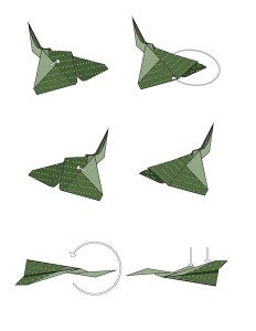 easy origami f 16