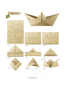 easy origami hat