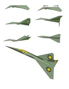 easy origami plane f16