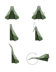 easy origami war plane