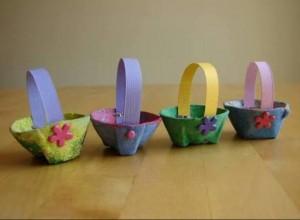 egg box craft mini basket