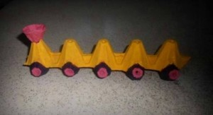 egg box craft train