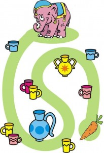 elephant animals labyrinth