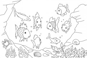 fısh coloring pages for school