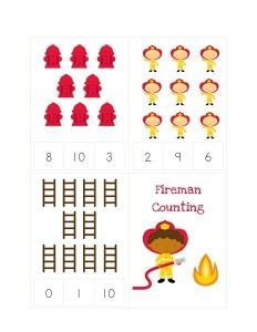 fire themed counting