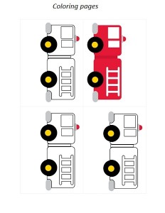 fire truck coloring