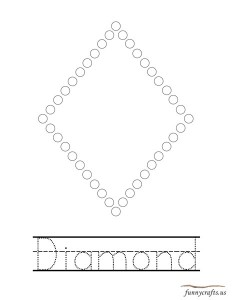 geometric shapes activities diamond