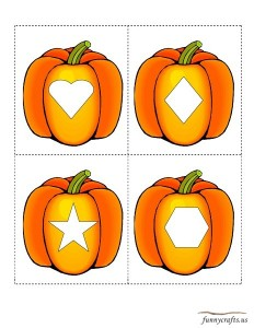 geometric shapes activities pumpkin