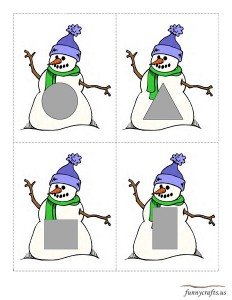 geometric shapes snowman