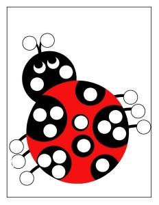 ladybug spring do a dot