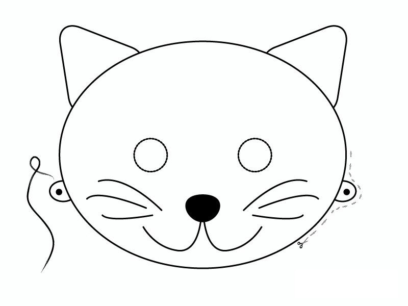 Mask template cats funnycrafts for Caterpillar mask template