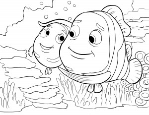 nemo coloring pages for kıds