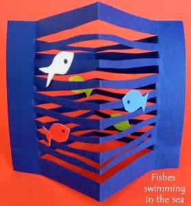 paper arts and crafts aquarıum