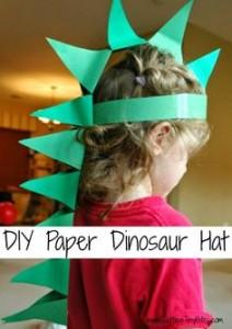 paper dinosaur hat
