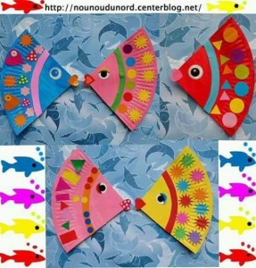 paper plate color fısh
