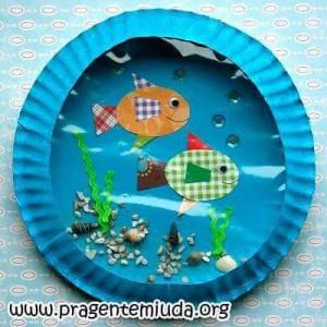 paper plate crafts fısh