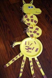 paper plate crafts giraffe