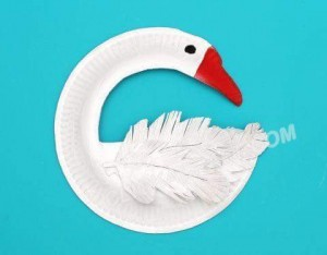 paper plate crafts swan