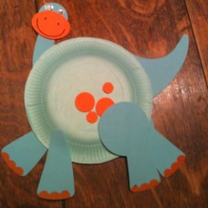 paper plate dinosaur dinosour