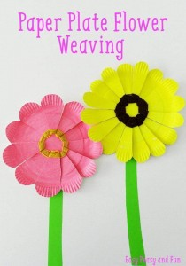 paper plate flowers crfts