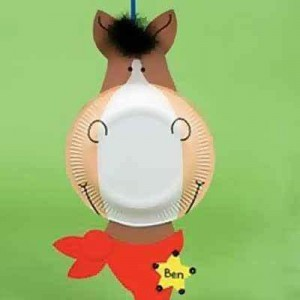 paper plate horse crafts