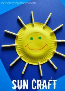 paper plate sun craffts