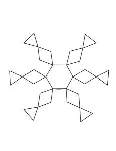 pattern design snowflake tangram