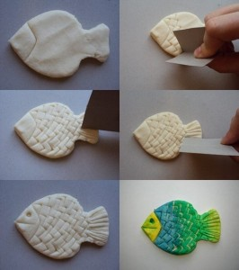 play dough fısh crafts