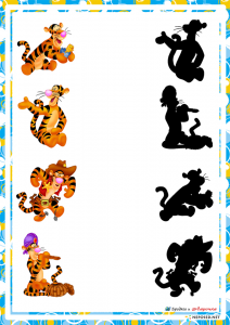 preschool activities shadow match
