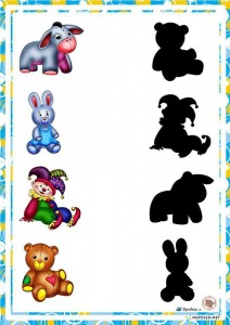preschool activities shadow matching