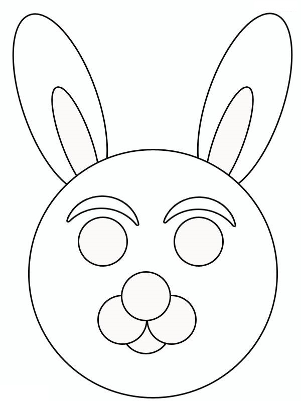 Mask Template Printable for Kıds » rabbit mask template