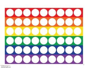 rainbow do a dot for kıds