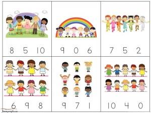 rainbow math exercise