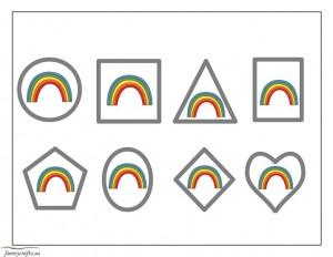 rainbow shapes activities