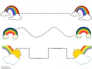 rainbow wre writing for kıds