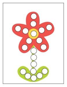 red flower spring do a dot