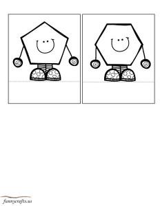 shapes coloring preschool