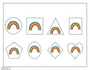 shapes rainbow