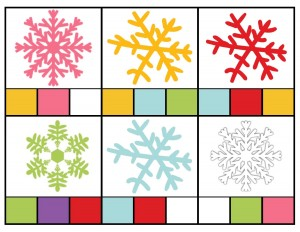 snowflake color activities