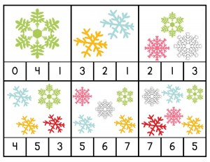 snowflake counting activities