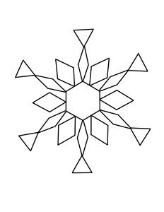 snowflake pattern design