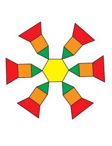 snowflake tangram
