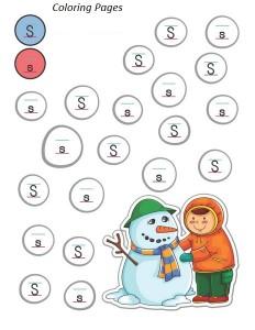 snowman alphabet coloring