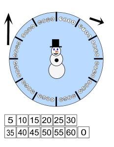 snowman clock activity